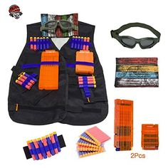 d6c590e2c76 KepooMan Tactical Vest Kit for Nerf Guns N-Strike Elite S... https