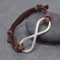 Masculinity INFINITY BRACELET Adjustable Leather by RoyalCountess