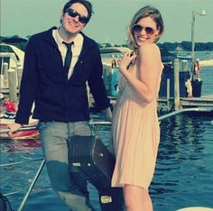 Adam and Abbey :) Adam Young, City Sky, Owl City, Music Love, Music Artists, Owls, The Dreamers, Sailing, Funny Stuff