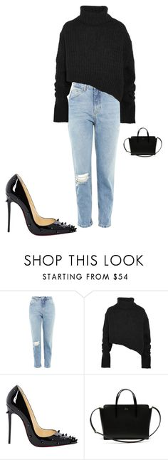 """"""""""" by sena12kan ❤ liked on Polyvore featuring Topshop, Ann Demeulemeester, Christian Louboutin and Lacoste"""