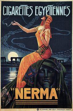 Gaspar Camps, Nerma Cigarettes advertisement, 1924.