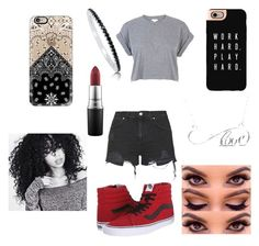 """""""Don't"""" by ddb1220 ❤ liked on Polyvore featuring Vans, Casetify, Topshop, BERRICLE, Allurez, MAC Cosmetics and River Island"""