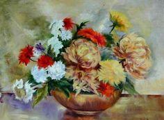 """""""Flores en ocres"""" Óleo"""