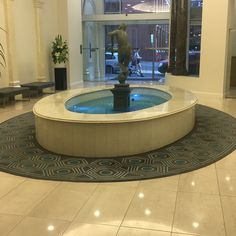 Photo 1: The marble it's protect the fountain to not slip up the water. The floor also is made by marble. Gives a luxury look at the building found in CBD.