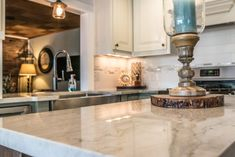 Quartz Kitchen Island Counter Showing Close Up Of Color. Quartz CountertopsKitchen  CountertopsGraniteSea Pearl QuartziteKitchen ...