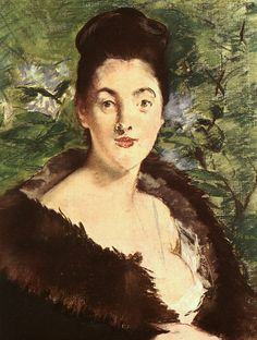 Lady in a fur, 1880 - Edouard Manet