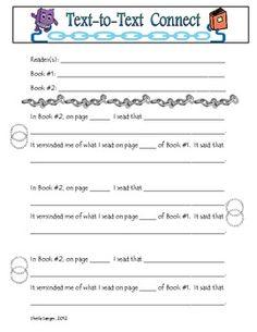 Making Connections Sheet Printable Worksheet Teaching Ideas