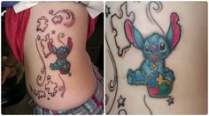 #autism #stitch #heart #ribs #filigree #puzzle #color #tattoo #studio13tattoomg