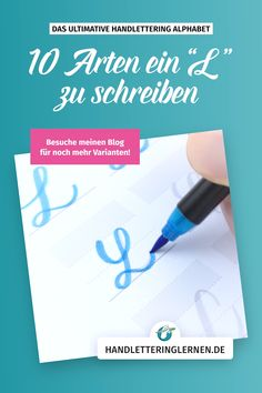 """Hand lettering """"L"""" - 10 Handlettering """"L"""" – 10 Varianten In this video I will show you 10 ways to write a great """"L"""" with a brushpen. If you want to discover more variants and styles, visit my website! Hand Lettering Tutorial, Hand Lettering Alphabet, Calligraphy Worksheet, Calligraphy Letters, Lettering Styles, Brush Lettering, Cursive Alphabet, Handwriting Fonts, Penmanship"""