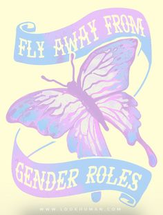 Show the pride you have for the gender YOU chose with this butterfly t shirt perfect for showing off your non binary transgender pride!