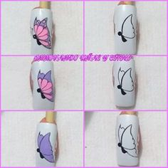 Chicas un paso a paso con mariposas espero les guste  #uñasbellas #uñass #uñasnaturales #manoslindas #uñascolombia #uñascortas Butterfly Nail Designs, Butterfly Nail Art, Nail Art Designs, Fancy Nail Art, Fancy Nails, Rose Gold Nails, Diamond Nails, Belle Nails, Nailart