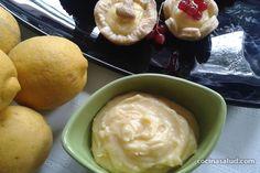 Lemon curd, una cuajada de limón exquisita para rellenar tartas, tartaletas, untar con tostadas, etc.  www,cocinasalud.com