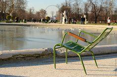 Jardin des Tuileries.   plus une crepe du fromage et jambon, et je suis contente