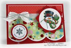JustRite Christmas Card designed by Kathy Jones w/Spellbinders dies, fun card!