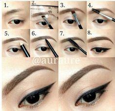 Eye brow  tips
