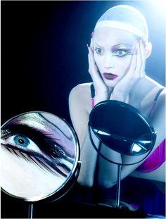 Cabaret - Anja Rubik for Vogue Italia , March Photography by Miles Aldridge. Anja Rubik, Beauty Editorial, Editorial Fashion, Miles Aldridge, Real Techniques Brushes, Beauty Shots, Human Art, L'oréal Paris, Through The Looking Glass