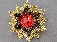 """MK """"Flower with Rivoli"""" pattern"""