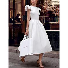 world-palm Girl Ladies Sleeveless Striped Mid-Calf Dress Party Dress,White,XL,