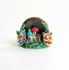 Miniature Whimsical Fairy Houses Hideaway OOAK by ArtisticSpirit