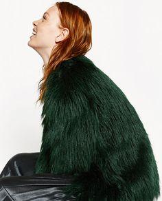 Image 4 of SHORT FAUX FUR JACKET from Zara