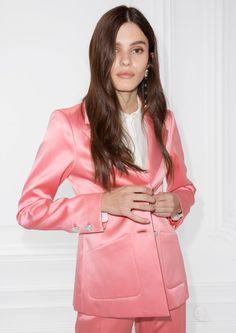 & Other Stories   Heart Button Blazer in Pink