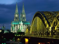 """Cologne, Germany - The Kölner Dom aka """"Cologne Cathedral"""" is a MUST see. It's simply magnificent. In this pic are the Kölner Dom and Hohenzollern Bridge. Try the """"kölsch"""" beer and you'll be glad you did. Places Around The World, The Places Youll Go, Places To See, Around The Worlds, Travel Photographie, Cologne Germany, Bonn Germany, Berlin Germany, Visit Germany"""