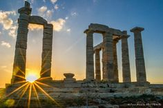 Greek Poseidon Temple Sunset by PA A on 500px sounio