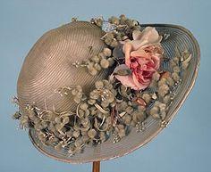 Flower decorated vintage hat