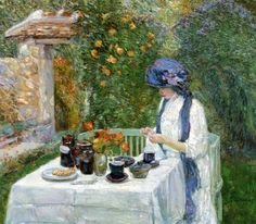 Childe Hassam, French Tea Garden (c. 1910)