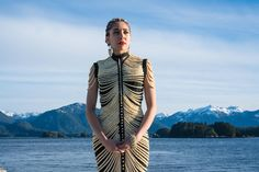Cynthia Gibson -- salmon bone dress -20 Thousand Bones ~ Salmon Life