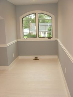 Easy Way To Create Visual Interest W Chair Rail And Painted Pine Floor. #  Pinterest++