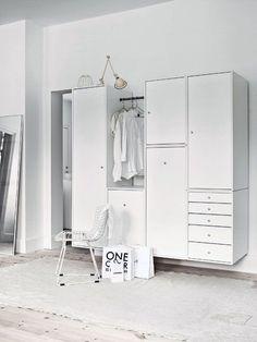 Off the floor wardrobe. all white