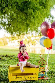 ensaio smash the cake bebê 1 ano no parque; parque barigui curitiba; Anne Caron fotógrafa de família; tema circo (8)