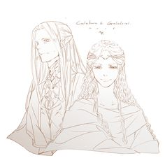 "Celeborn and Galadriel from ""Lord of the Rings"" - Art by 天良"