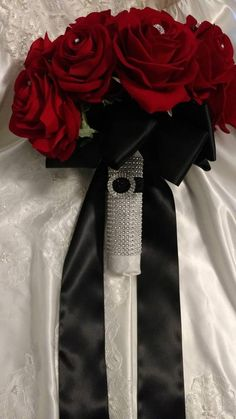 Your place to buy and sell all things handmade Red Silver Wedding, Grey Wedding Theme, Wedding Cake Red, Red Rose Wedding, Rose Wedding Bouquet, Wedding Themes, Wedding Ideas, Gothic Wedding, Summer Wedding