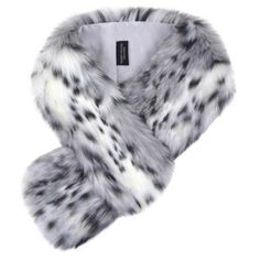 Helen Moore Faux Fur Loop Scarf Arctic Leopard (2 100 UAH) ❤ liked on Polyvore featuring accessories, scarves, tube scarf, leopard scarves, infinity loop scarves, faux fur infinity scarves and loop scarves