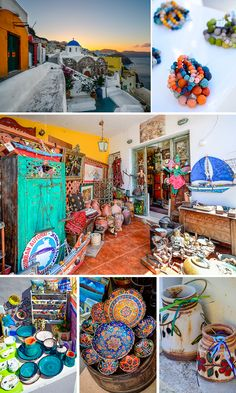 Browsing the shops of Oia, Santorini                                                                                                                                                                                 More