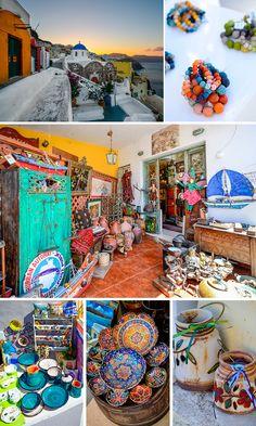 Browsing the shops of Oia, Santorini
