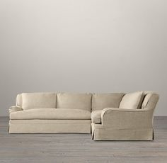 Belgian Classic Roll Arm Slipcovered Sectionals...oh, i REALLY want this!