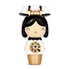 Chatty Momiji are handpainted resin message dolls. Turn them upside down...inside every one there's a tiny folded card for your own secret message. Spread the love.All dolls�are approx 8cm (3in) tall.