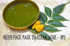 Neem face pack to clear acne - DIY – Bowl of Herbs