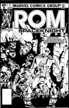 the cover to ROM #9 by Michael Golden