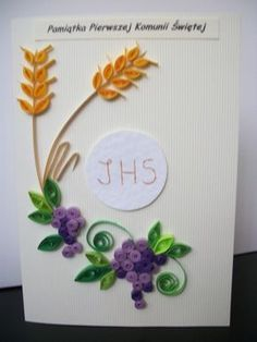 First Holy Communion Quilling Card - Buscar con Google