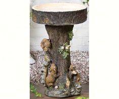 Squirrel Tree Bird Bath By Kelkay-KEL4311-BEST PRICE!