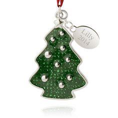 Glittery Christmas Tree Ornament