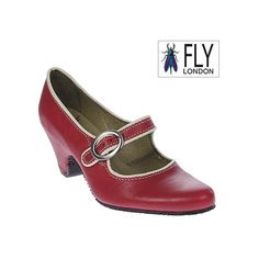 I want these shoes!    Fly London - Quip Shoes Red