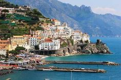 Photographic Print: Pictorial Coastal Town Amalfi , Italy by Maugli-l : Oh The Places You'll Go, Places Around The World, Places To Travel, Places To Visit, Dream Vacations, Vacation Spots, Amalfi Coast Holidays, Amalfi Coast Italy, Sorrento Italy
