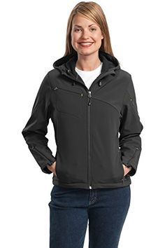 Port Authority Womens Textured Hooded Soft Shell S CharcoalLemon Yellow >>> You can get additional details at the image link. (This is an affiliate link) #LadiesCoatsandJackets