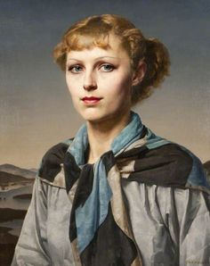 Gillian by Gerald Leslie Brockhurst Date painted: 1934 Oil on canvas, 60.9 x 55.9 cm Collection: Glasgow Museums