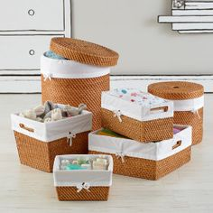 the land of nod kids storage baskets kids rattan small baskets rh pinterest com